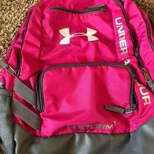 pink under armor backpack